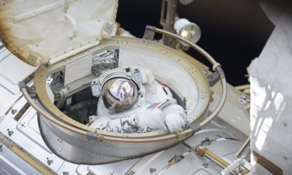 Spacewalkers install HD video cameras to monitor future SpaceX and Boeing trips