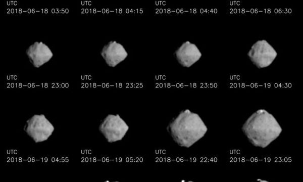 Japan's Hayabusa 2 probe closes in on asteroid Ryugu – and captures close-ups