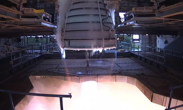 Engine test for NASA's heavy-lift SLS rocket cuts off early, but achieves goals